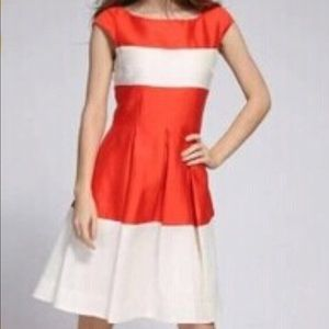 •Kate Spade• Striped Fit & Flare Gayle Dress